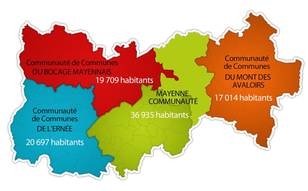 Carte de la Haute Mayenne