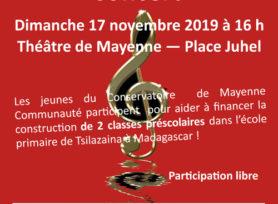 Concert au théâtre de Mayenne le dimanche 17 novembre