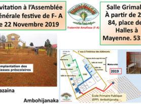 ASSEMBLÉE GÉNÉRALE DE L'ASSOCIATION FRATERNITÉ - AMAFISOA