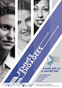 affiche femmes engagées mémorial 2017